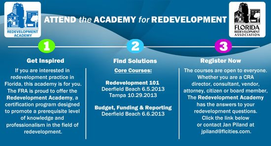 Redevelopment Academy: 2013 Application and Registration